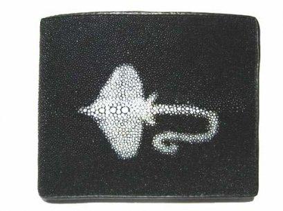 Genuine Stingray Leather Wallet in Stingray Design  #STM498W