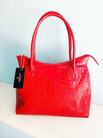 Crocodile Leather Handbag RE #CRW1217H-05-RE