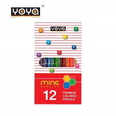 สีไม้ 12 สี คุณภาพเยี่ยม Mine Quality รุ่น 555-12