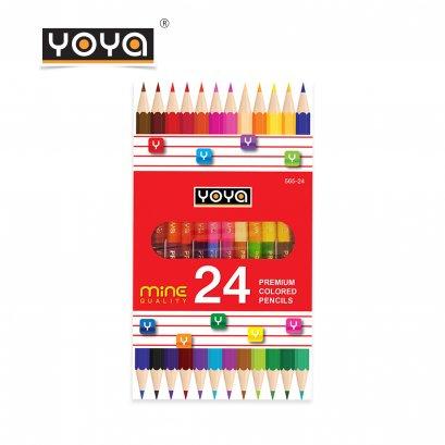 สีไม้ 24 สี 12 แท่ง คุณภาพเยี่ยม Mine Quality รุ่น 565-24