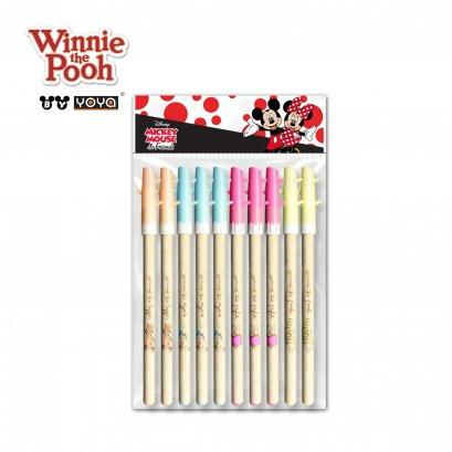 YOYA ปากกาเจล 0.5 มม แพ็ค 10 : Winnie the pooh  รุ่น D110668 / หมึกน้ำเงิน