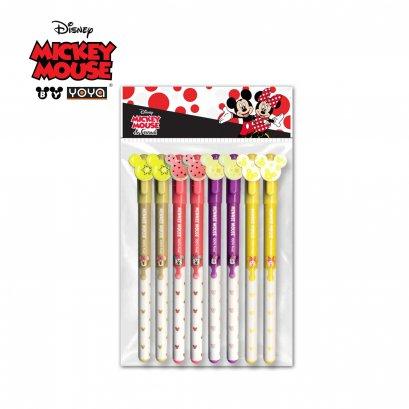 YOYA Gel pen 0.35 mm Pack 8 : Mickey&Friends D110700 / Blue Ink