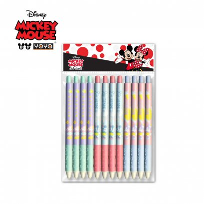 YOYA Ball point pen 0.38 mm Pack 12 : Mickey&Friends D120158 / Blue Ink
