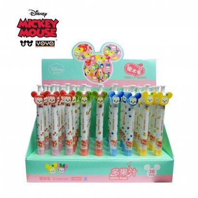 YOYA Ball point pen 0.38 mm Pack 36 : Mickey&Friends D120163 / Blue Ink