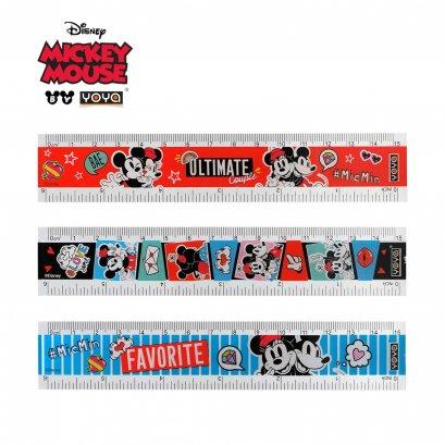 YOYA 15 cm Plastic Ruler : Mickey&Friends DY32115