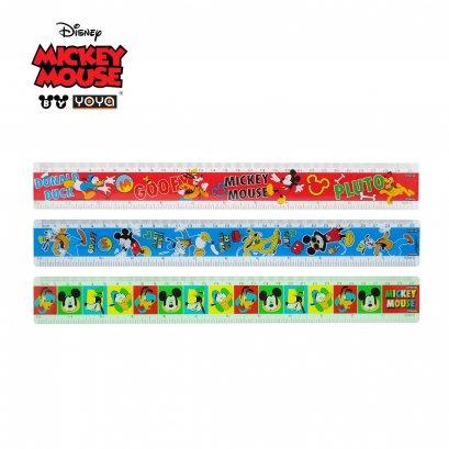 YOYA 30 cm Plastic Ruler : Mickey&Friends  DY32130