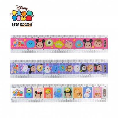 YOYA 15 cm Plastic Ruler : Tsum Tsum DY32215