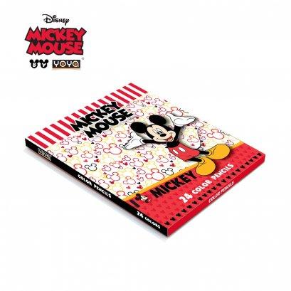 YOYA Color Pencil 24 colors : Mickey&Friends  DY551-24