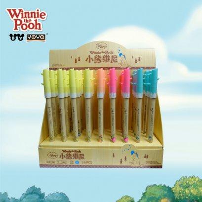 YOYA Gel pen 0.5 mm Pack 36 : Winnie The Pooh D110668 / Blue ink