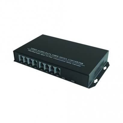 8ch PCM Telephone and Ethernet Fiber Optic Converter