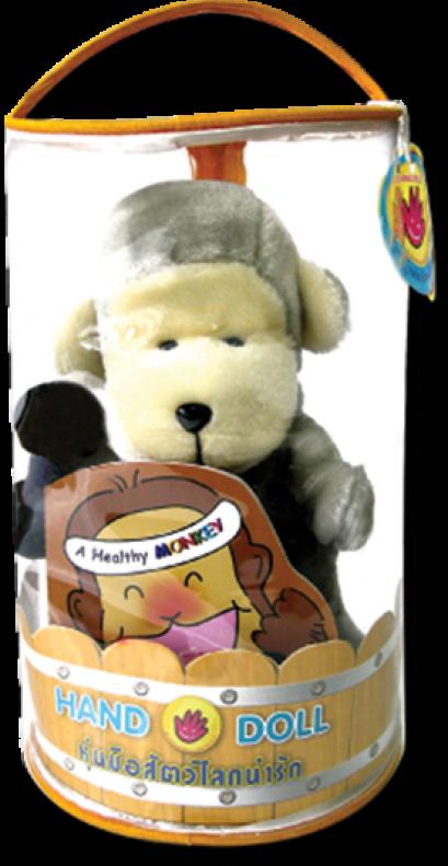 หุ่นมือ ลิงแสนรู้  (หนังสือ/ดัมเบล)