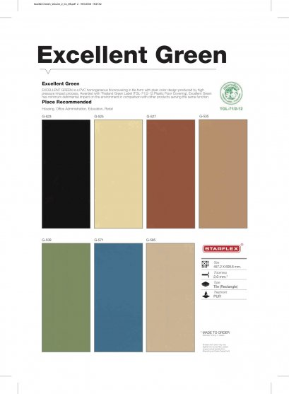 EXCELLENT / GREEN