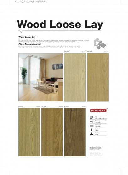 WOOD LOOSE LAY 5 mm.
