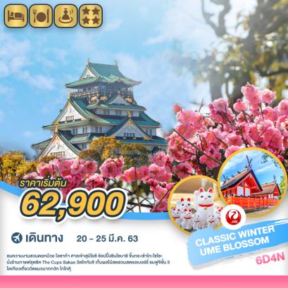 ทัวร์ญี่ปุ่น : โอซาก้า กระเช้าโกไซโช ไร่สตอเบอร์รี่ ฟูจิ CLASSIC WINTER UME BLOSSOM SUZUKA FOREST