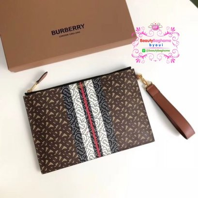 Burberry monogram stripe clutch  งานHiend1:1