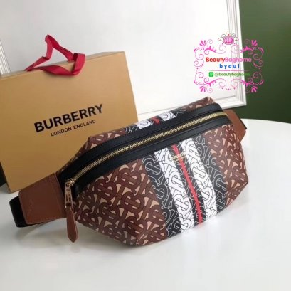 Burberry monogram stripe bumbag  belt bag งานHiend