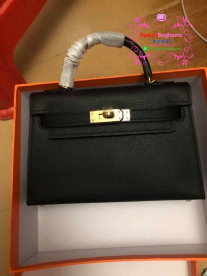 Hermes mini kelly สีดำ original leather 1:1
