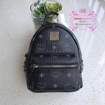 Mcm x mini backpack สีดำ งาน Hiend Original
