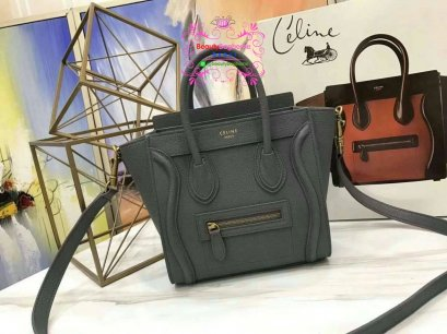 Celine luggage nano  สีเทา original leather