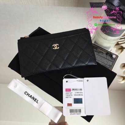 Chanel  wallet ss18 new collection original leather งานดีสุด