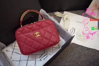 Chanel 2018 new collection สีแดง Original leather