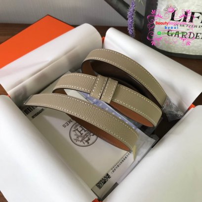Hermes belt สีเทา Original leather