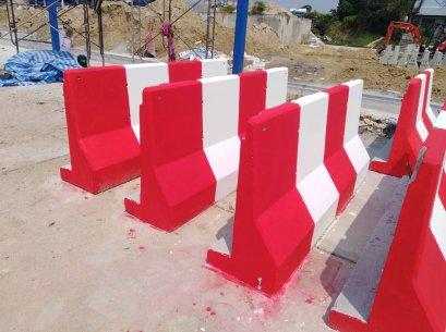 Barrier ชั่วคราว 1 เมตร สามารถทาสีได้