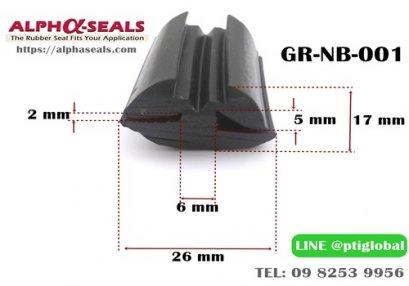 ซีลยางขอบกระจก GR-NB-001