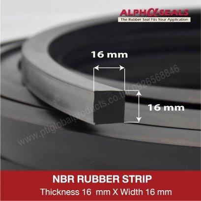 NBR Rubber  16x16 mm