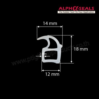 Silicone Rubber Seal  14X18 mm.