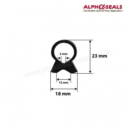 Oven Door Seals Omega Shapes 18x23 mm