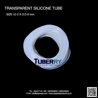 Silicone Tube I.D 2 X O.D 6 mm