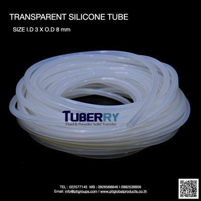 Silicone Tube I.D 3 X O.D 8 mm