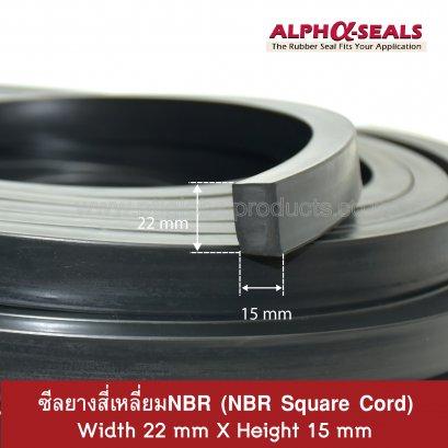 NBR Rubber Strip 22x15 mm