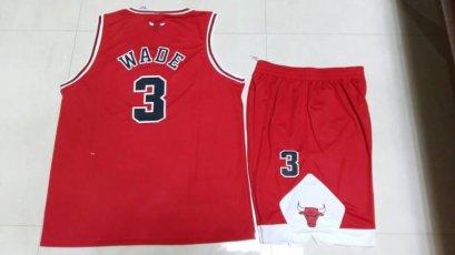ชุดบาส Wade Chicago เบอร์ 3 สีแดง