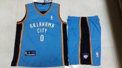 ชุดบาส Westbrook Oklahoma เบอร์ 0 สีฟ้า