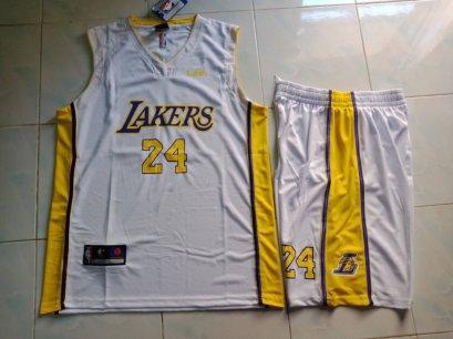 ชุดบาส Lakers เบอร์ 24 สีขาว