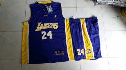 ชุดบาส Lakers เบอร์ 24 สีม่วง