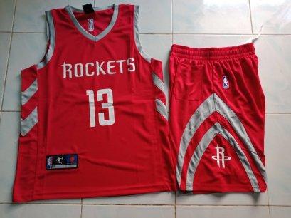 ชุดบาส Rockets เบอร์ 13 สีแดง