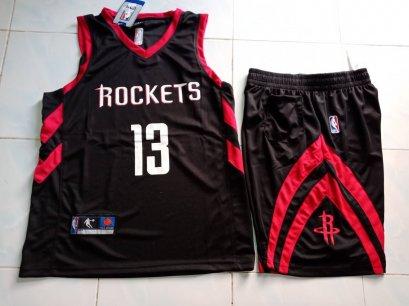 ชุดบาส Rockets เบอร์ 13 สีดำ