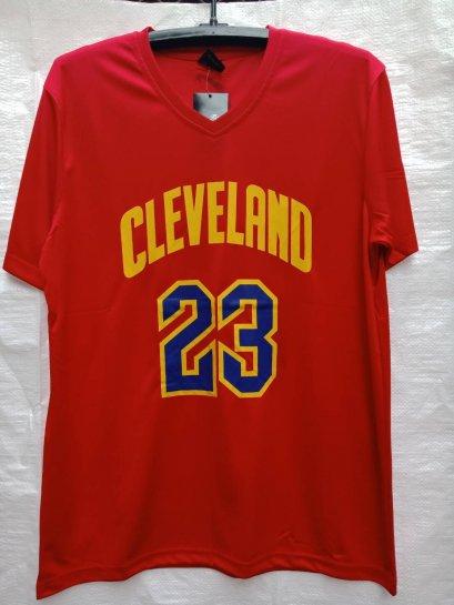เสื้อบาส LeBron James Cleveland เบอร์ 23 สีแดง
