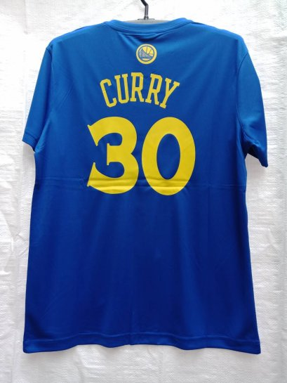 เสื้อบาส Curry Golden State Warriors เบอร์ 30 สีฟ้า