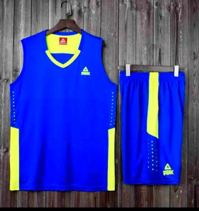 ชุดบาสเกตบอล PEAK สีน้ำเงิน