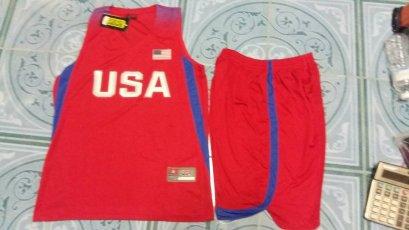 ชุดบาส USA สีแดง