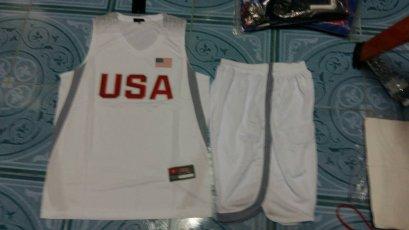 ชุดบาส USA สีขาว
