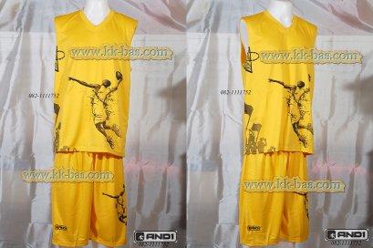 ชุดบาสเกตบอล AND1-DUNK สีเหลือง
