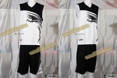 ชุดบาสเกตบอล AND1-Kirin สีดำ