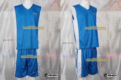 ชุดบาสเกตบอล AND1-Star สีฟ้า