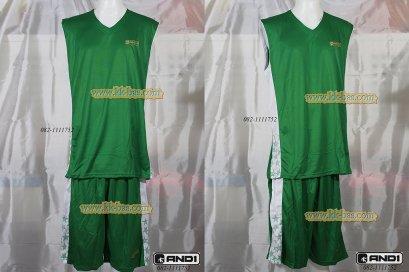 ชุดบาสเกตบอล AND1-Star สีเขียว