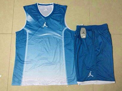 ชุดบาสเกตบอล Jordan3002 สีฟ้า